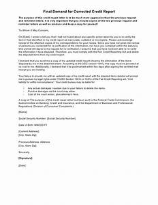 sample letter final demand for corrected credit report With attorney credit repair letter