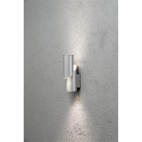 konstsmide new imola led aluminium outdoor wall light konstsmide from castlegate lights uk