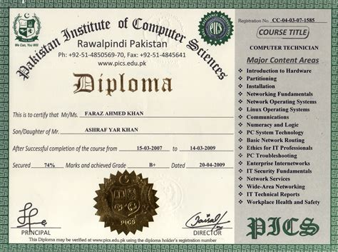 Certificate Courses by Pakistan Institute Of Computer Sciences Free
