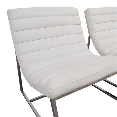 white leather sofa and chair 43 off white leather sofa chairs chairs