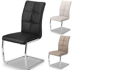 chaise salle à manger design chaise de salle a manger design en pu et pieds chrome