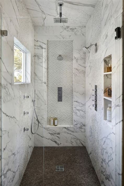 marble shower shelf 32 walk in shower designs that you will love digsdigs