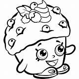 Coloring Shopkins Shopkin Colouring Printable Mini Muffin Scribblefun Cupcake Season sketch template