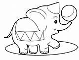 Coloring Pages Elephant Baby Jungle Safari Print Dolphin sketch template