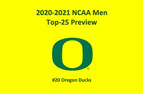 Oregon Basketball Preview 2020 - Top NCAAM Odds