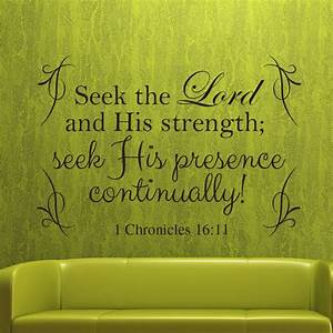 1 Chronicles 16:11 religious wall decor Divine Walls