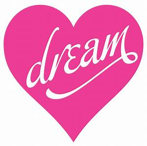 """""""Dream"""" Large Heart Wall Decal Vivid Wall Decals"""