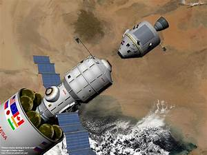 Space Exploration - Phobos mission docking in Earth orbit ...