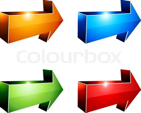 3d Vector Picture by 3d Vibrant Arrows Vector Illustration Stock Vector