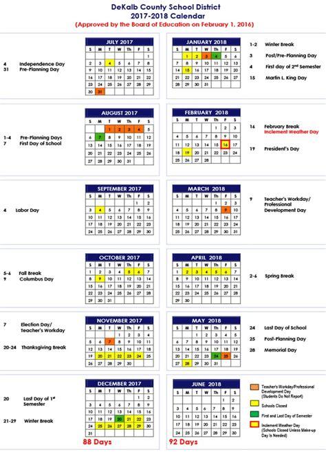 dekalb county schools calendar
