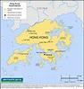 Map Of Hong Kong - railwaystays.Com