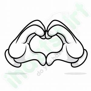 Roupa Maos Mickey Coração