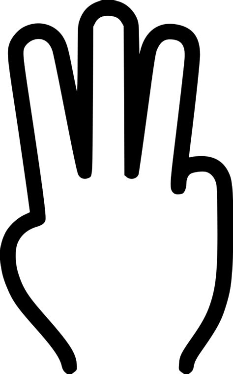 Three Fingers Svg Png Icon Free Download (#431662