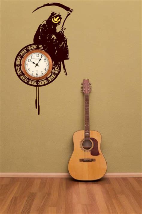 banksy large grim reaper   clock enhanced clock