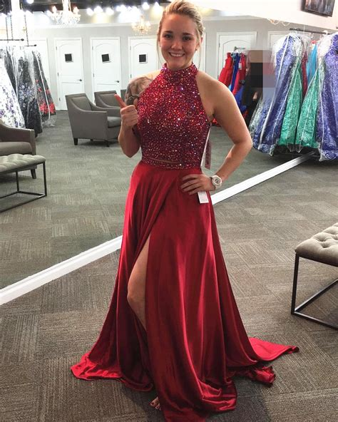 burgundy color prom dress two prom dress satin prom gowns 2 prom dress