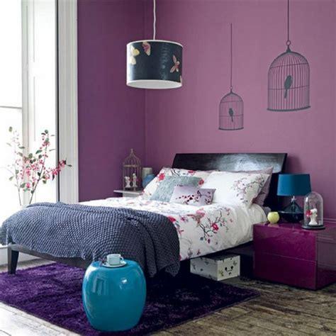 chambre bleu violet violet comment combiner cette couleur dans la déco