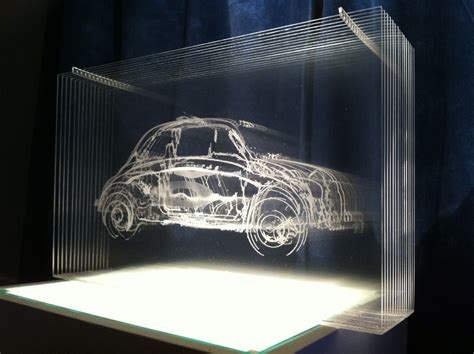 fiat  sculpture steve clarkson  layers  laser