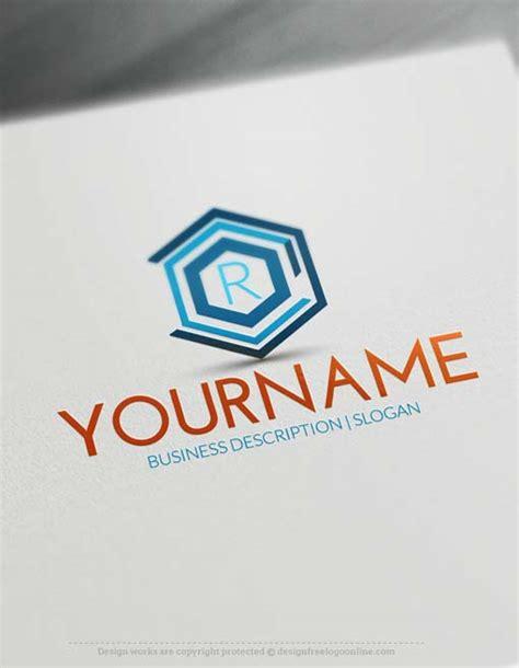 logo maker geometric company logo