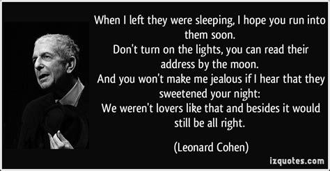 leonard cohen quotes quotesgram