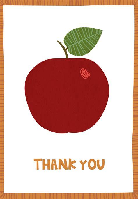 appreciation apple   card  teacher