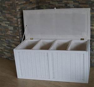 Wäschetruhe Holz Weiß : w schesortierer w schetruhe viviane w schekorb xl 4 fach 4 f cher wei ambiente im haus ~ Indierocktalk.com Haus und Dekorationen