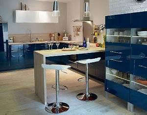 meuble cuisine bleu pour cuisine ouverte castorama With palette couleur peinture mur 14 amenagement optimise et deco pour ma cuisine ouverte