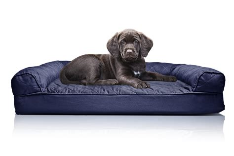 pet bed furhaven quilted orthopedic sofa bed pet bed ebay
