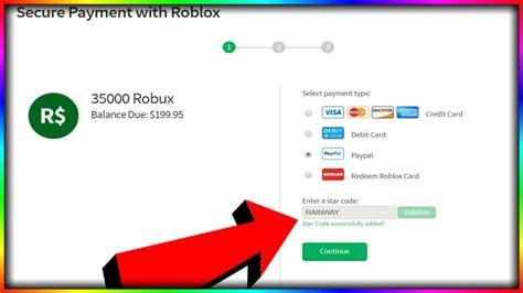 Enter the promo code in the section to the right and your free virtual good will be automatically added to your roblox account. USE CODE RAINWAY WHEN BUYING ROBUX - YouTube