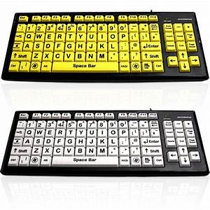 Big Button Keyboard - Easy To Use Keyboard w/ Extra Large Keys