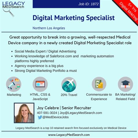 Digital Marketing Specialist by Snapshot Legacy Medsearch Device Recruiters