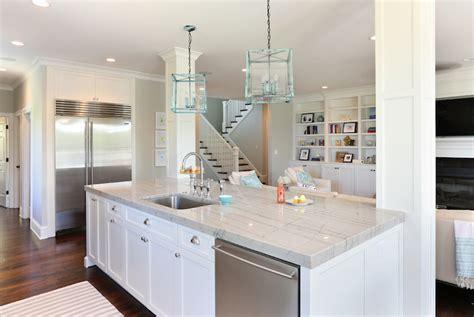 White Quartzite Counters   Transitional   kitchen