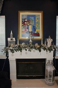 Silver, And, White, Christmas, Mantle