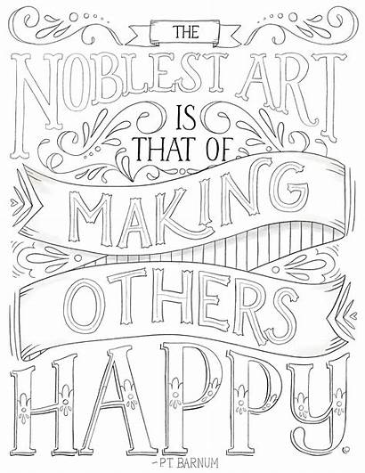 Noblest Circus Coloring Typography Printable