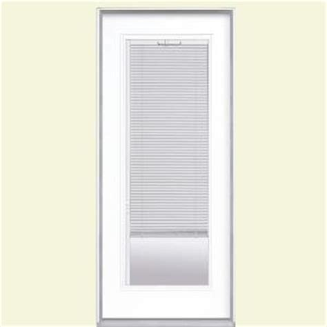 Masonite Patio Doors With Mini Blinds by Masonite 32 In X 80 In Mini Blind Primed Steel Prehung
