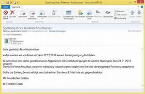 Rechnung Begleichen : sperrung ihres telekom anschlusses von telekom deutschland gmbh no reply bringt ~ Themetempest.com Abrechnung