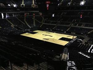 Spurs Unveil New Court San Antonio Spurs