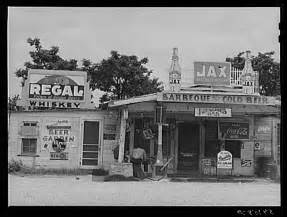 Black and White Old Gas Station