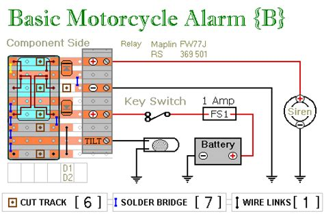 two relay based motorcycle alarm circuits