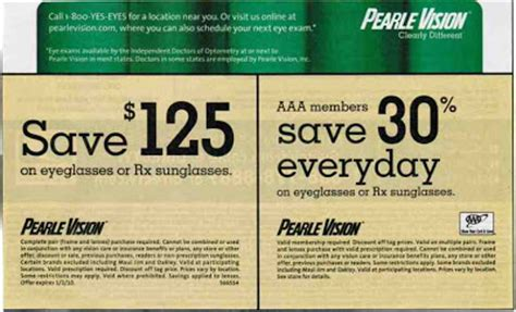 coupons  printable pearle vision coupons