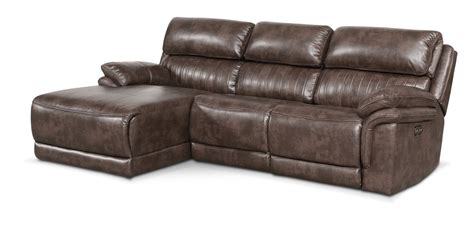 power reclining sectional sofa with chaise monterey 3 piece power reclining sectional with left