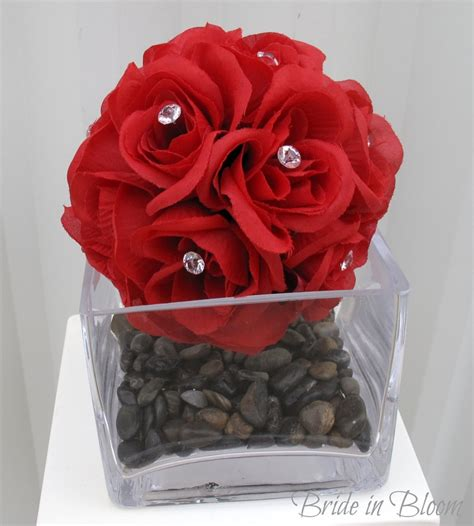 Wedding bouquet centerpiece DIY decorations wedding flower ball pomander vase arrangements. $20