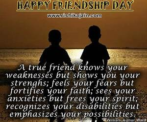 Wish you a Happ... Friendship Day Good Quotes