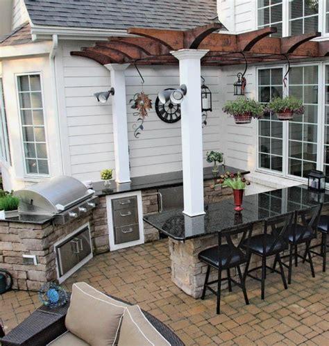 outdoor kitchen cabinets uk ideen und tipps f 252 r die au 223 enk 252 che im garten 3842
