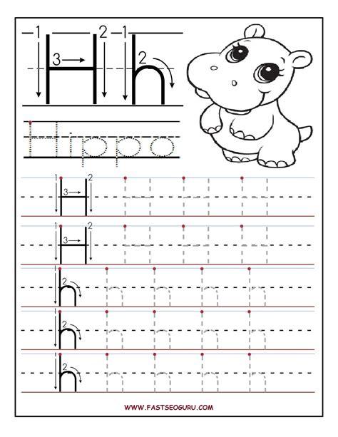 printable letter h tracing worksheets for preschool 511 | d7d162e04c9d3b200922909634fedb4d