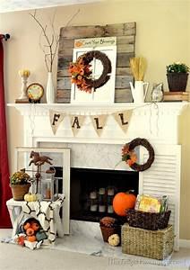 39 beautiful fall mantel decor ideas digsdigs for Fall mantel decor