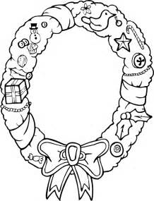 Christmas Wreath Printable Coloring Pages