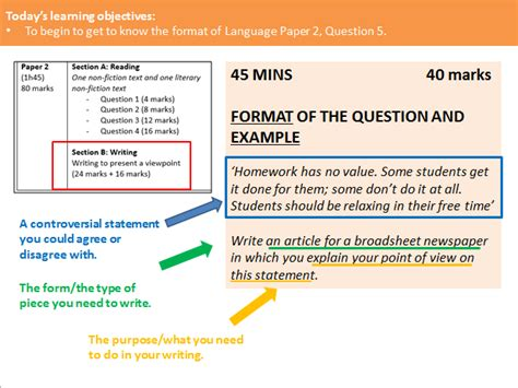 The teacher who taught me italian was very good. AQA GCSE - Language Paper 2, Question 5 Scheme of Work   Teaching Resources