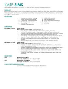 human services resume summary best social worker resume exle livecareer