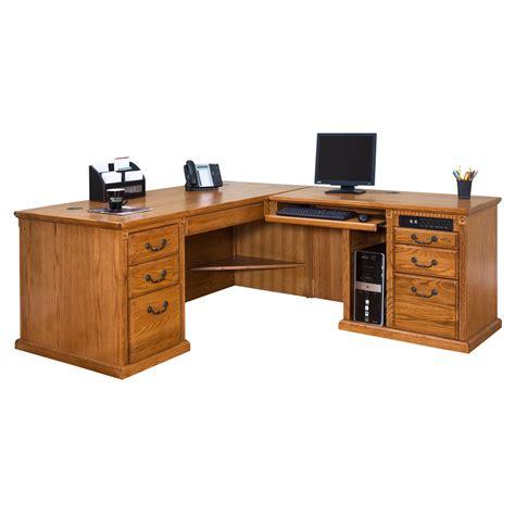 wood corner computer desk varnished oak wood corner computer desk which furnished