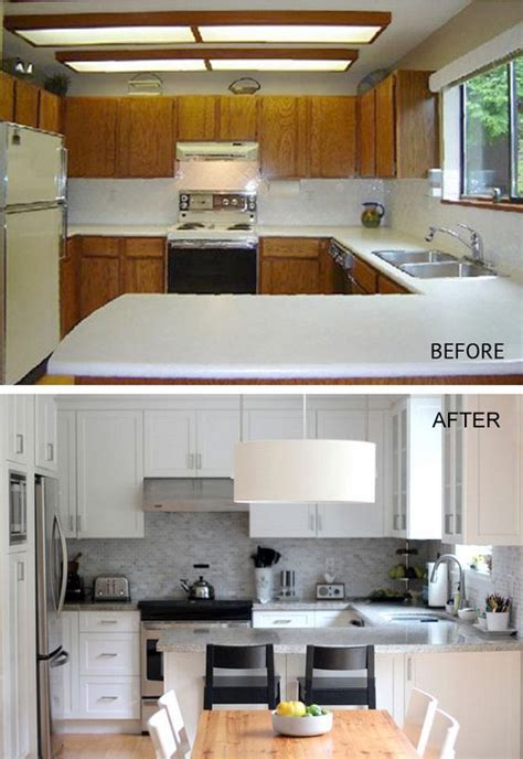 Kitchen Remodel Ideas With Oak Cabinets - pretty before and after kitchen makeovers